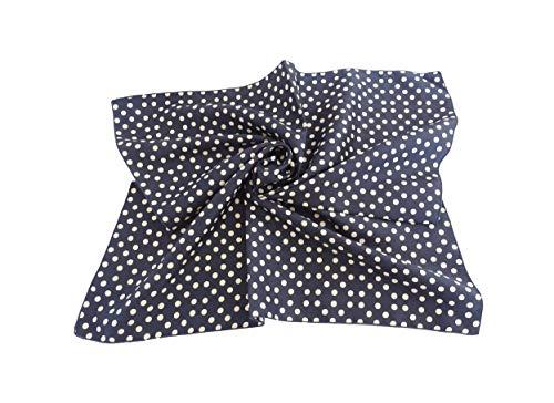 Halstuch blau weiß gepunktet - Rockabilly accessoires damen - Polka dots - Halstuch Größe 48x48