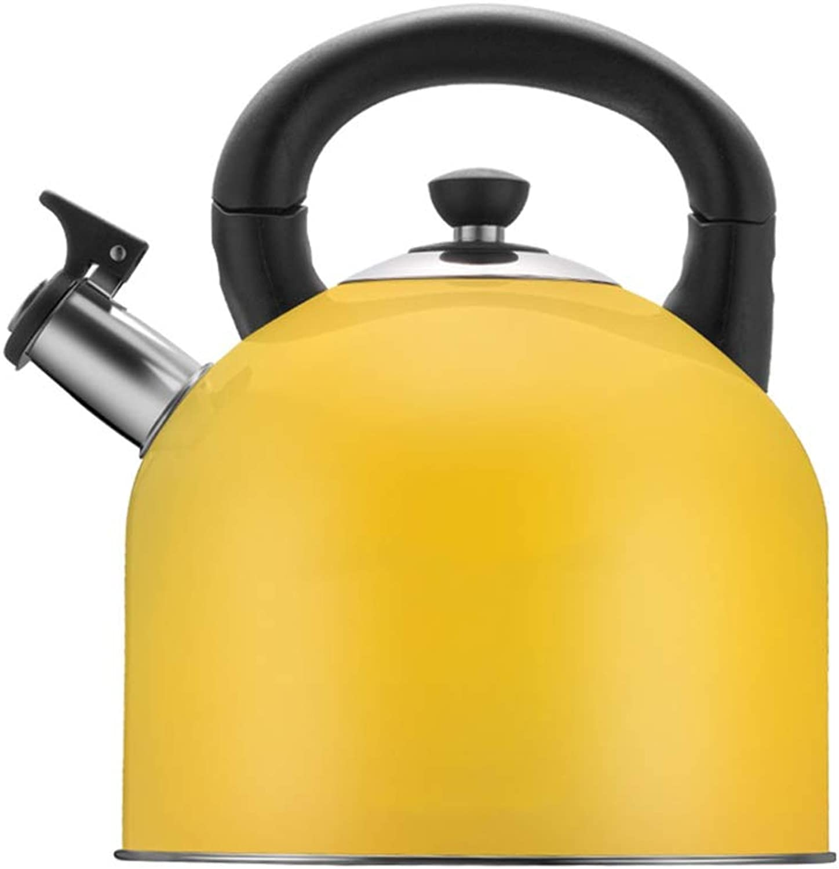 70% de descuento XYM-hervidor Caldera De Gas Gas Gas De Acero Inoxidable Que Silba 4L Caldera para Placas De Inducción Cocina De Cerámica Cocina De Gas Cocinas De Hornos, (Color   Amarillo)  descuento de ventas en línea