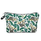 Cosmetic Bag for Women,Loomiloo Adorable Roomy Makeup Bags Travel Waterproof Toiletry Bag Accessories Organizer Sloth (Sloth 51476)