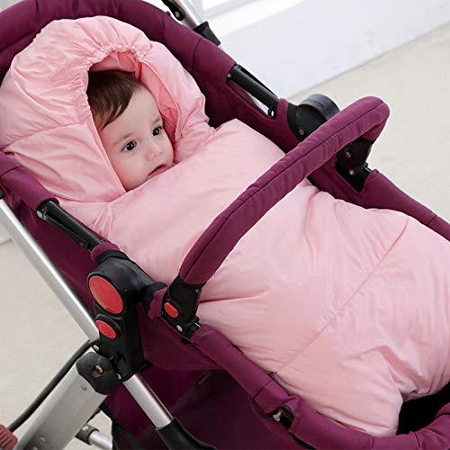 nohbi Babyschlafsack ganzjahres,Daunenschlafsack aus Baumwolle, Dicker Warmer Winterschlafsack, pink,Winter Baby Kinder Schlafsack