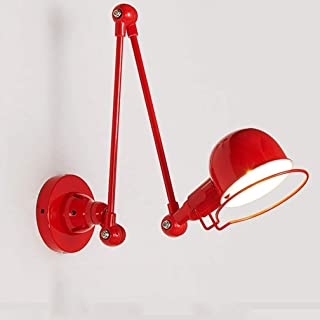 Rétro Industriel Rocker Télescopique Applique Murale Vintage Lampe Murale Nuit Lampe Métal Fer Lumière de Mur Miroir Lampe...