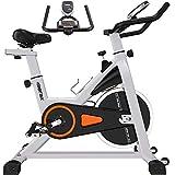 Merax Indoor Cycling Exercise Bike Cycle Trainer Adjustable Stationary Bike (Orange)