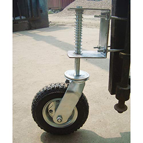 Northern Tool and Equipment Gate Wheel with Suspension - 210-Lb. Capacity, 8in. Pneumatic Tire, Model Number CT-GW01