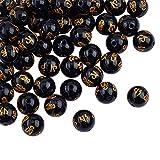 "OLYCRAFT 49 pz 8mm Perline di Ossidiana Nera Naturale Filo di Pietra Preziosa Rotonda Perline Allentate Perline di Pietra Energetica per Creazione di Gioielli, 15"""