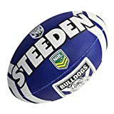 Steeden NRL Canterbury Ballon de rugby Bankstown Bulldogs Supporter 2020 Bleu/blanc 5