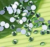 Cristales de uñas SS3 1440pcs / bolsa de diamantes de imitación de vidrio sin espalda plana, piedras de pegamento de brillos no de fijación en caliente-peridoto