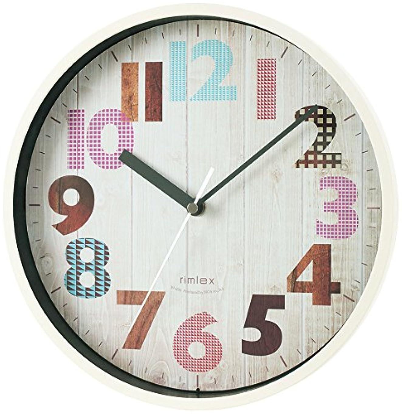 故国酔った実際のノア精密 rimlex ジーツ 電波時計 W-696 掛け時計 掛時計 壁掛け時計 壁掛時計 木目風 ヴィンテージ調 夜間秒針停止機能 ステップ秒針 おしゃれ