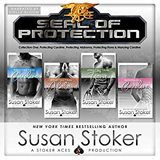 SEAL of Protection     Box Set 1              By:                                                                                                                                 Susan Stoker                               Narrated by:                                                                                                                                 Stella Bloom                      Length: 20 hrs and 28 mins     25 ratings     Overall 4.8