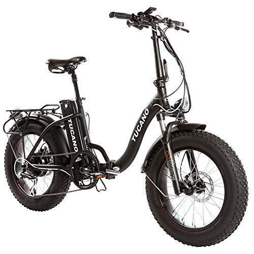 Monster 20″ LOW-e-e-Bike Plegable - Suspensión Delantera - Motor 500W (Negro)