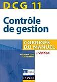 DCG 11 - Corrigés du manuel