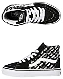 Vans Mens Old Skool Unisex Low Top Sneaker (Sk8 Hi Black/True White, Numeric_12)