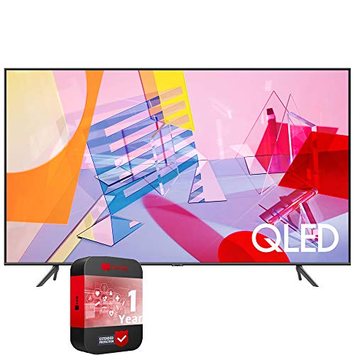 SAMSUNG QN50Q60TAFXZA 50 inch Class Q60T QLED 4K UHD HDR Smart TV 2020 Bundle with 1 Year Extended Protection Plan