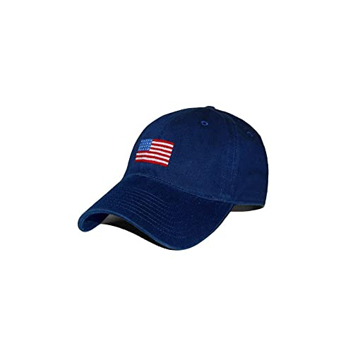 Smathers   Branson American Flag Needlepoint Hat - Navy ... 48fe7016835a