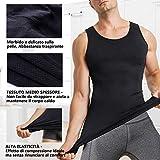 Zoom IMG-2 chumian maglietta compressione uomo canottiera