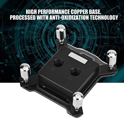 Shipenophy Placa Base de CPU Plateada con tecnología antioxidante Bloque de Agua de Bloque de refrigeración por Agua con Base de Cobre de 3 mm para INTEL1150 / 1151/1155/1156