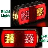 AGRISHOP 2PCS Luces Traseras Remolque 12/24V LED, led Piloto Trasero de 4 Funciones Universal 12V Luces Remolque led Luz...