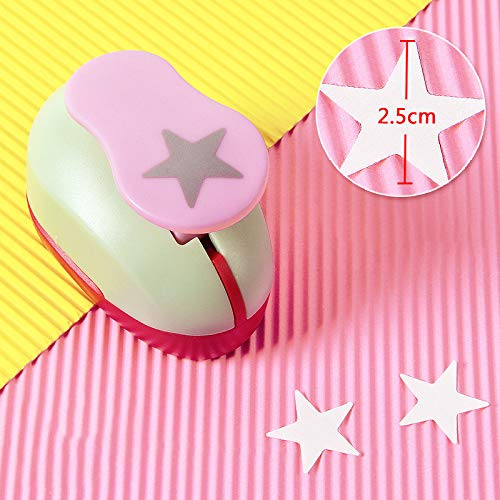 Craft Hole Punch Paper Puncher-Scrapbook Hole Punch Craft Puncher-Shape Punch for Decorating Paper Crafts, Card Making, Envelopes (Star)