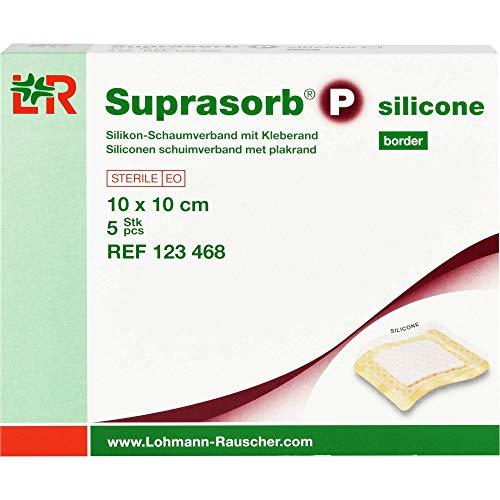 SUPRASORB P silicone Schaumverb.border 10x10 cm 5 St