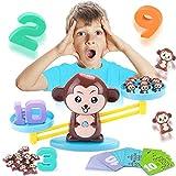 MEckily Apprentissage des mathématiques Jeu Monkey Math - Education Enfants Cadeaux Jouet Mathématique, Cartes de Maths de Balance de Singe Bloc Numérique Jouets Éducatifs Jeux Mathématiques Cadeau