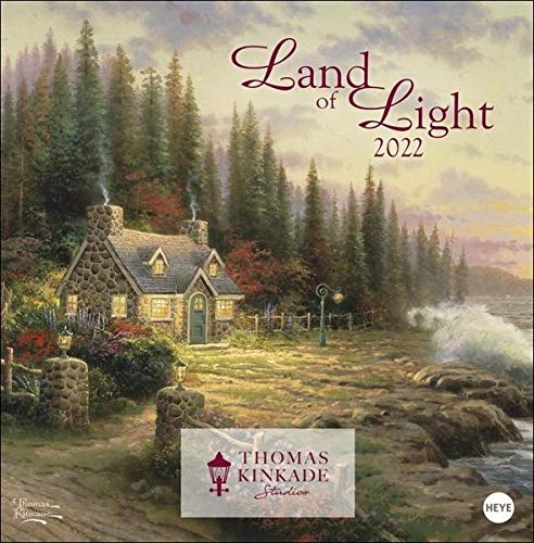Thomas Kinkade: Land of Light Broschurkalender 2022 - Kunstkalender mit Jahresübersicht 2023 - mit viel Platz für Eintragungen - 29,5 x 30 cm (29,5 x 60 cm geöffnet)