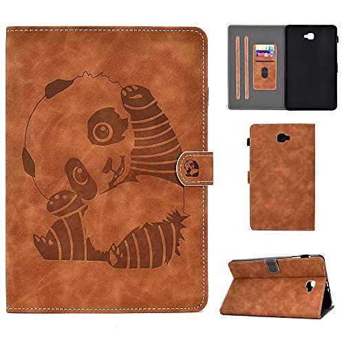 YYLKKB For Funda Tablet Samsung Galaxy Tab A 6 A6 10 1 2016 Case Embossed Leather Case For Samsung Galaxy Tab A6 SM T580 T585 SM-T580-Black_SM-T580 SM-T585