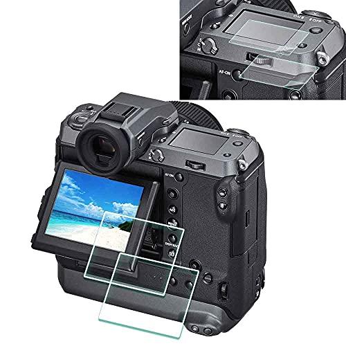 Protector de pantalla para Fujifilm GFX 100 / GFX 100S LCD + PET Top Flim [2+2 unidades], ULBTER 0,3 mm 9H Dureza para Fuji GFX 100 100S Cristal Templado Anti-Scrach Anti-Huellas Anti-Burbujas