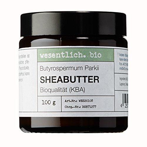 Sheabutter BIO 100g von wesentlich. - natürlich im Glastiegel - 100{045959ba6b9a769cc8edb1b3454c2649e63bf7548470ae99f62266011c965370} reines Naturprodukt