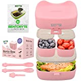BentoRyte Kids Bento Lunch Box Set with Accessories| Insulated Food Containers for Kids | 3 Compartment BPA Free Lunchbox Container| Meal Prep and Storage Boxes | Freezer and Microwave Safe