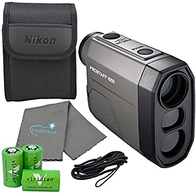 Nikon Prostaff 1000 Laser Rangefinder - 16664 Bundle with 3 CR2 Batteries and Lumintrail Cleaning Cloth by Nikonxx