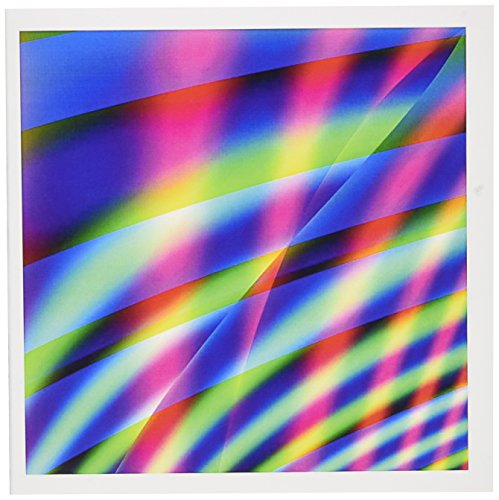 3dRose Greeting Cards, 6 x 6 Inches, Pack of 12, Neon Lines 2 Abstract By Angel and Spot (gc_7637_2)