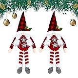 Hebilla de cortina de Navidad 2 piezas Tiebacks de cortina de Navidad Hebilla de cortina Muñecas sin rostro Dormitorio Gancho de cortina Sujetador de hebilla Abrazadera para ventana de Navidad Decorac