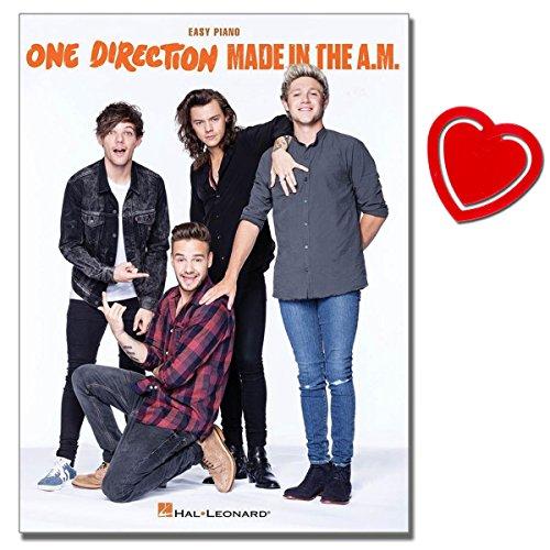 One Direction - Made in the A.M. - Songbook für Klavier mit bunter herzförmiger Notenklammer