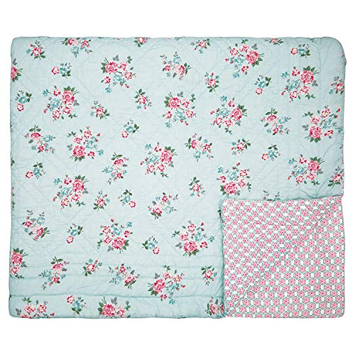 GreenGate - Tagesdecke, Quilt - Sonia - Pale Blue - Baumwolle - 140x220cm