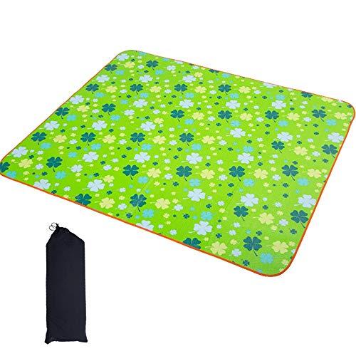 Fengbingl-hm Picknickdecke Mat Strandmatte Picknick-Matte Moisture Barrier-Zelt-Matten Doppelseitige Kinder Krabbeln Mat für Familiencamping im Freien (Farbe : Grün, Größe : 1.5x1.8m)