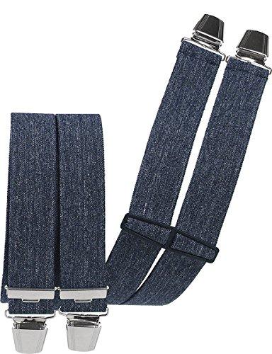 Harrys-Collection Hosenträger 2 Größen großer Farbauswahl, Farben:jeansblau, Größen:120 cm