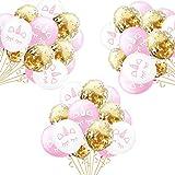 Einhorn Konfetti Luftballon,15 Stück Rose Gold Konfetti Ballon Party Dekoration für Kinder Geburtstag Feier Jubiläum JGA Unicorn Party Ballons 2 inch
