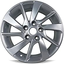 Road Ready Car Wheel For 2013-2016 Nissan Sentra 16 Inch 5 Lug Silver Aluminum Rim Fits R16 Tire - Exact OEM Replacement - Full-Size Spare