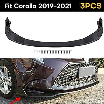 Fits Toyota Corolla 2019 2020 2021 Front Bumper Lip Body Kit Spoiler 1 Set Matte Black