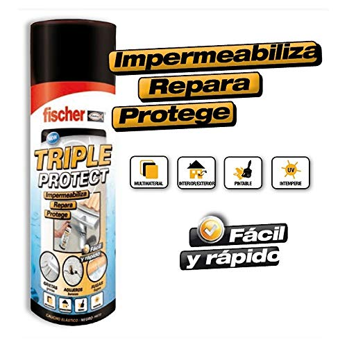 FISCHER 535747 - SPRAY TRIPLE PROTECT negro