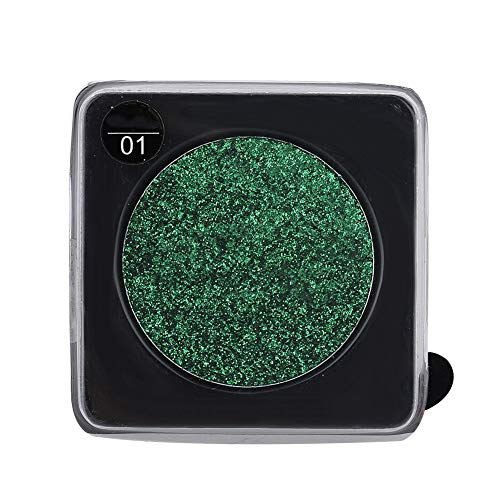 Glitter enkele kleur oogschaduw ogen pigment oogschaduw poeder podium make-up cosmetica 3 kleuren (01# GROEN)