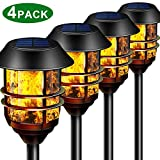 Camabel 55' Tall Solar Torches Lights with Flicking Flame 100% Metal...