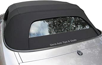 Sierra Auto Tops Convertible Soft Top Replacement, compatible with Honda S2000 2000-2001, w/Heated Glass Window, Stayfast Canvas, Black