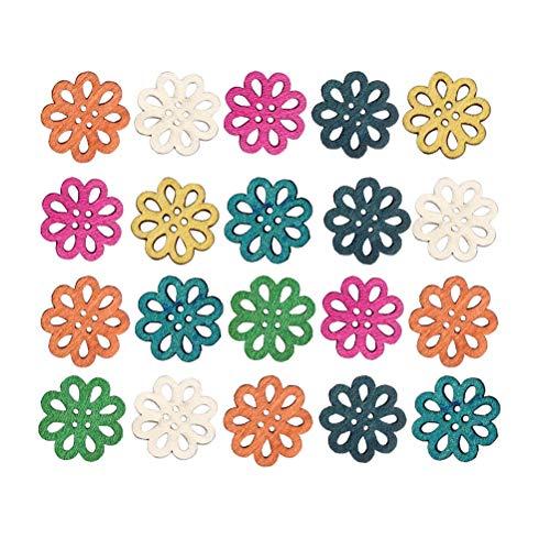 Color al Azar Healifty Botones de Madera de Gatos de 2 Agujeros Costura para Ropa Scrapbooking Crafts DIY Bricolaje Artesan/ía 50 Piezas