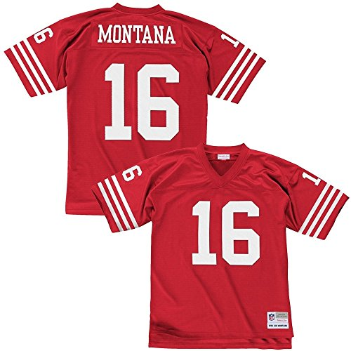 Mitchell & Ness Joe Montana San Francisco 49ers Throwback NFL Trikot Rot XXL