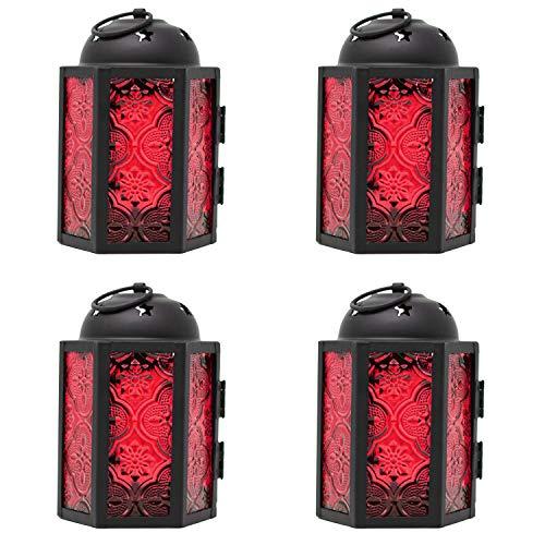 Vela Lanterns - Farolillos estilo marroquí, Marroquí, Rojo, Mini