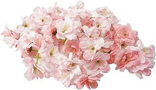 Summer Flower Silk Blooming Cherry Blossoms Sakura Heads Artificial Flower Arrangement Wedding Party Home Garden Decoration,Pack of 20 (Mix-Pink)