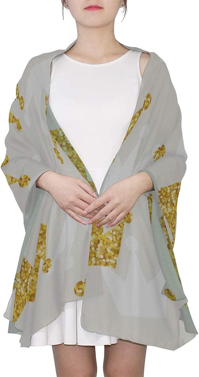 Womens Scarfs Lightweight Beautiful Creative Art Crown Queen Women Wrap Scarf Scarf Wrap For Women Lightweight Print Scarves Scarf Little Girls Scarfs Fashion