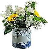 Jarrón chino porcelana antigua China azul rojo oro Jarrón florero flor jarrón pequeño jarrones cerámico chino hidropóstico jarrones de cerámica de cerámica azul y blanco porcelana decoraciones caseras