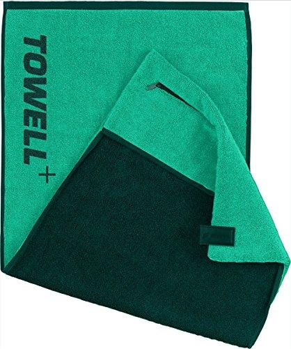 STRYVE Towell+ Serviette avec Sac, Clip magnétique et Protection antidérapante - la Serviette de Sport