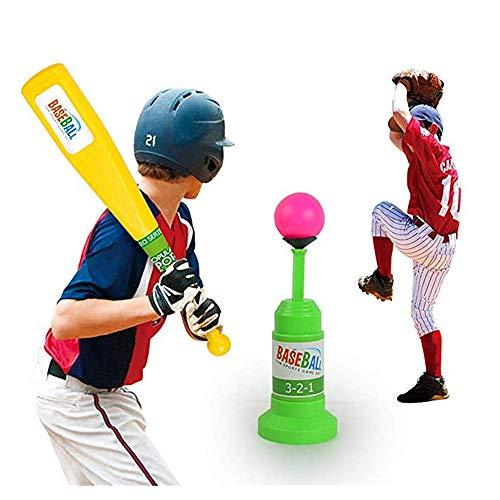 LGFB Launcher Kind Tennis Baseball Pitching Machines Outdoor-Sport-Spiel Automatische Ballmaschine startet Geben Sie einen Baseballschläger und 3pcs Ball